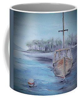 Moored Sailboat Coffee Mug