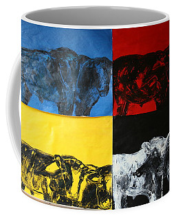 Mooving Out Of Our Land Coffee Mug