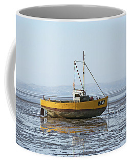 Morecambe. Yellow Fishing Boat. Coffee Mug