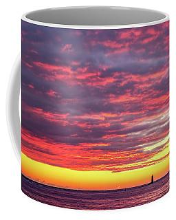 Morning Fire Over Whaleback Light Coffee Mug