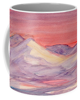 Coffee Mug featuring the painting Morning Light In The Mountains by Dobrotsvet Art