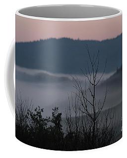 Coffee Mug featuring the photograph Morning Mist by Ann E Robson