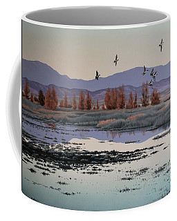 Coffee Mug featuring the painting Morning Sprig by Peter Mathios