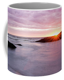 Coffee Mug featuring the photograph Morning Sun Good Harbor by Michael Hubley