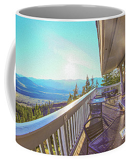 Coffee Mug featuring the photograph Morning Sunrise At Sun Mountain Lodge Architectural Photography By Omaste Witkowski by Omaste Witkowski