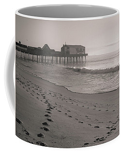 Coffee Mug featuring the photograph Morning Walk On Old Orchard Beach by Dan Sproul