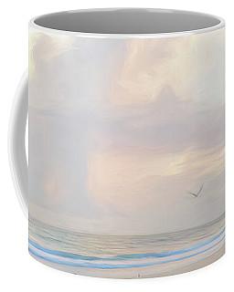 Morning Walk On The Beach Panorama Coffee Mug