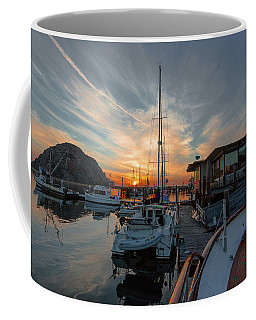 Coffee Mug featuring the photograph Morro Bay Sunset by Mike Long