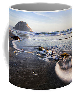 Coffee Mug featuring the photograph Morro Rock Ebb Tide by Mike Long