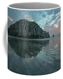 Coffee Mug featuring the photograph Morro Rock Sunset by Mike Long