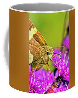 Moth On Purple Flower Coffee Mug