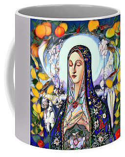Coffee Mug featuring the digital art Mother Mary by Pennie McCracken