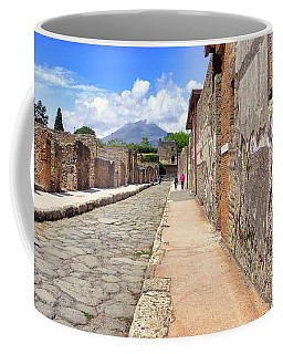 Coffee Mug featuring the photograph Mount Vesuvius And The Ruins Of Pompeii Italy by Robert Bellomy