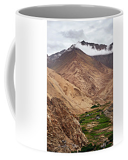 Coffee Mug featuring the photograph Mountain Farming by Whitney Goodey