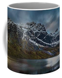 Mountain Lake In Norway On Lofoten Near Nusfjord Coffee Mug