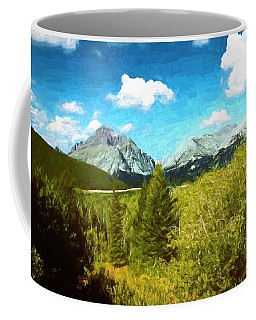 Mountain Landscape Glacier National Park. Coffee Mug