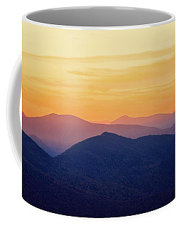 Mountain Light And Silhouette  Coffee Mug