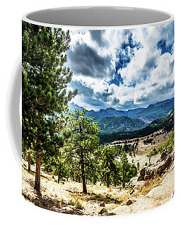 Coffee Mug featuring the photograph Mountains Across The Way by James L Bartlett