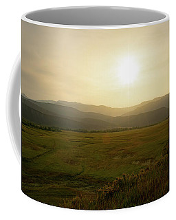 Coffee Mug featuring the photograph Mountains At Dawn by Nicole Lloyd