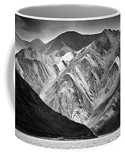 Coffee Mug featuring the photograph Mountains At Pangong by Whitney Goodey