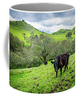 Coffee Mug featuring the photograph Mt. Diablo Spring Hillside Cattle by Scott McGuire