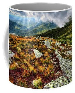 Coffee Mug featuring the photograph Mt. Washington Nh, Autumn Rays by Michael Hubley