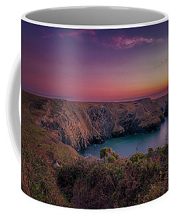 Mullion Cove Cornwall Sunset Coffee Mug