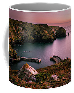 Mullion Cove Sunset - Cornwall General View Coffee Mug