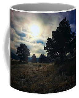 Coffee Mug featuring the photograph Murky Atmosphere Elk Meadow by Dan Miller