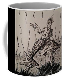 Coffee Mug featuring the painting Mushroom Man by Aaron Bombalicki