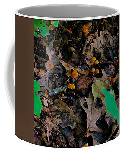 Coffee Mug featuring the photograph Mushrooms And Leaf Litter by Lukas Miller