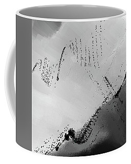 Muted - Shades Of Gray Abstract Art Coffee Mug