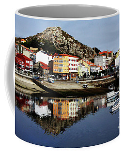 Coffee Mug featuring the photograph Muxia Camino Reflections by Rick Locke