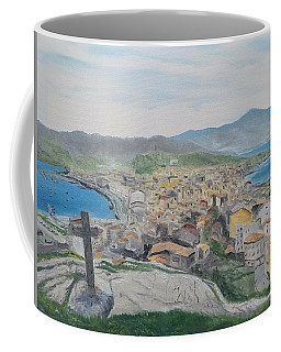 Coffee Mug featuring the painting Muxia by Kevin Daly
