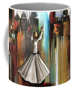 Coffee Mug featuring the painting Mystical Journey  by Nizar MacNojia