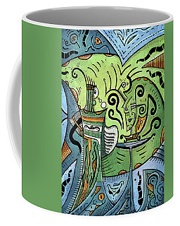 Coffee Mug featuring the painting Mystical Powers by Sotuland Art