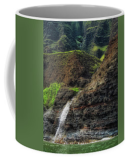Na Pali Coast Waterfall Coffee Mug