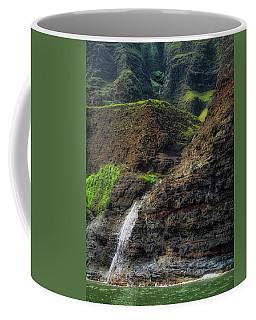 Coffee Mug featuring the photograph Na Pali Coast Waterfall by Andy Konieczny