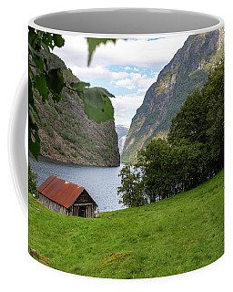 Coffee Mug featuring the photograph Naeroyfjord, Norway by Andreas Levi