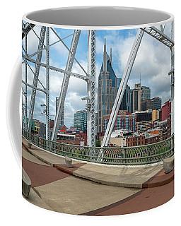 Nashville Cityscape From The Bridge Coffee Mug