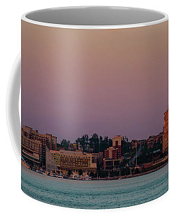 Coffee Mug featuring the photograph National Harbor Reflecting The Sunset by Lora J Wilson