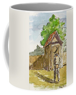 Coffee Mug featuring the painting Nature Calls by Barry Jones