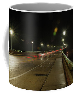 Coffee Mug featuring the photograph Naval Academy Bridge At Night by Mark Duehmig