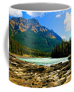 Coffee Mug featuring the photograph Near The Athabasca Falls Jasper National Park, Alberta  by Ola Allen