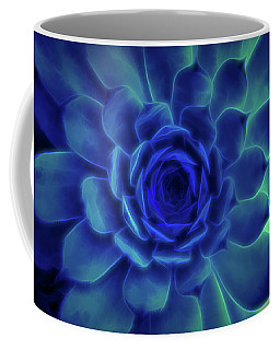Neon Blue Sempervivum Coffee Mug