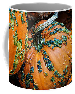 Coffee Mug featuring the photograph Nestled - Autumn Pumpkins by Debi Dalio