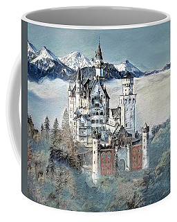 Coffee Mug featuring the digital art Neuschwanstein Castle 2 by Pennie McCracken