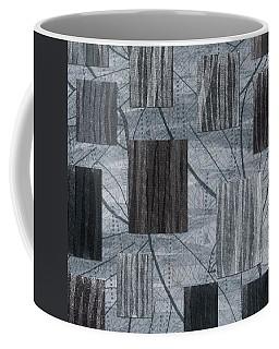 Neutral Toned Leaf Square Print Coffee Mug