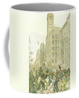 New Years Mummers On Chestnut Street Coffee Mug