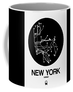 New York Black Subway Map Coffee Mug